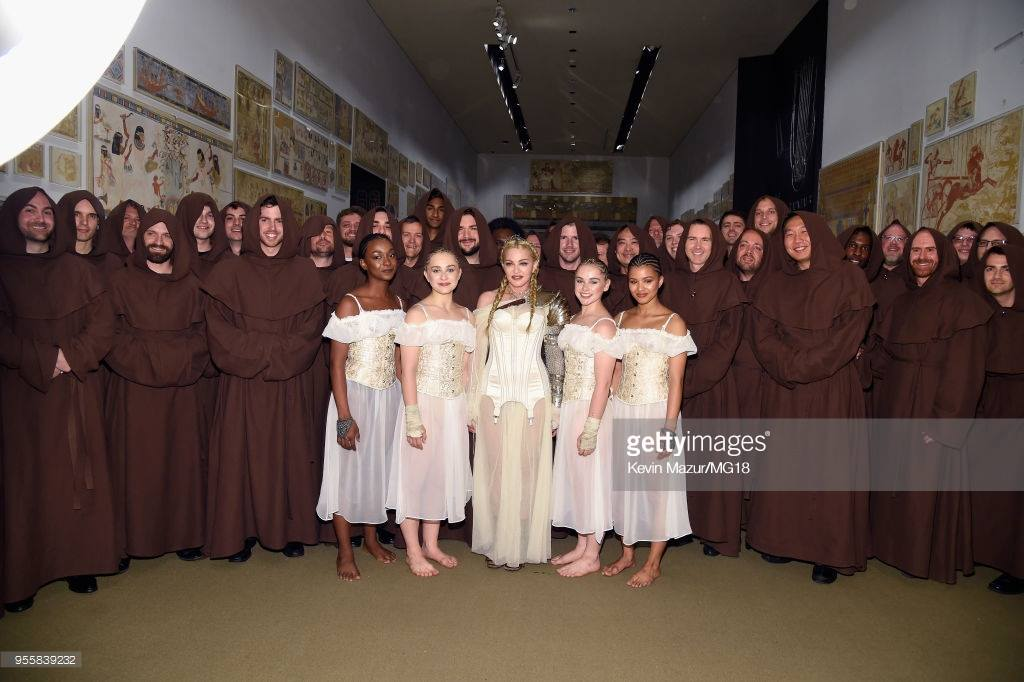 Madonna at the Met Gala (I'm the beard on the left)