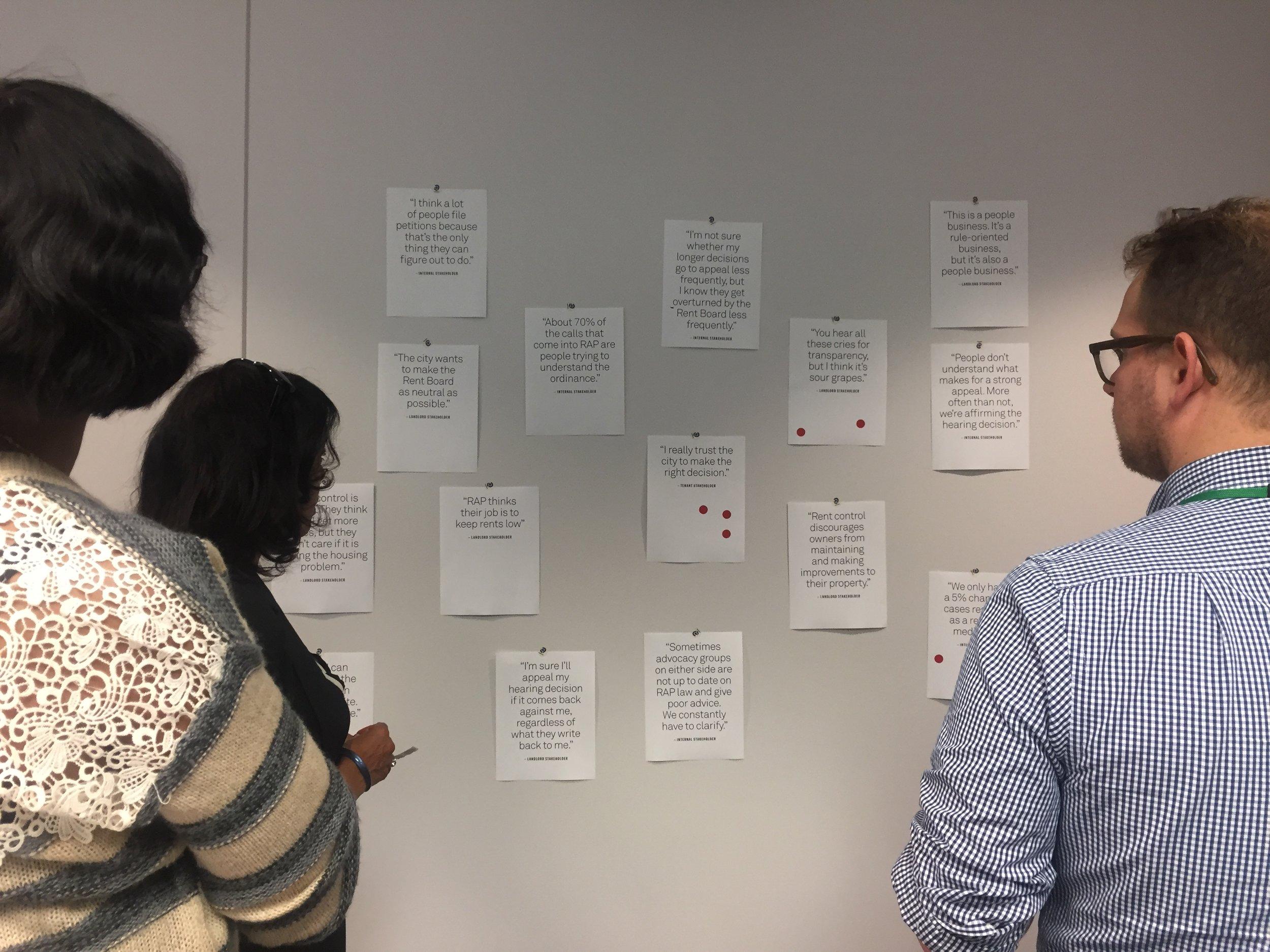 Internal stakeholder workshop exercise