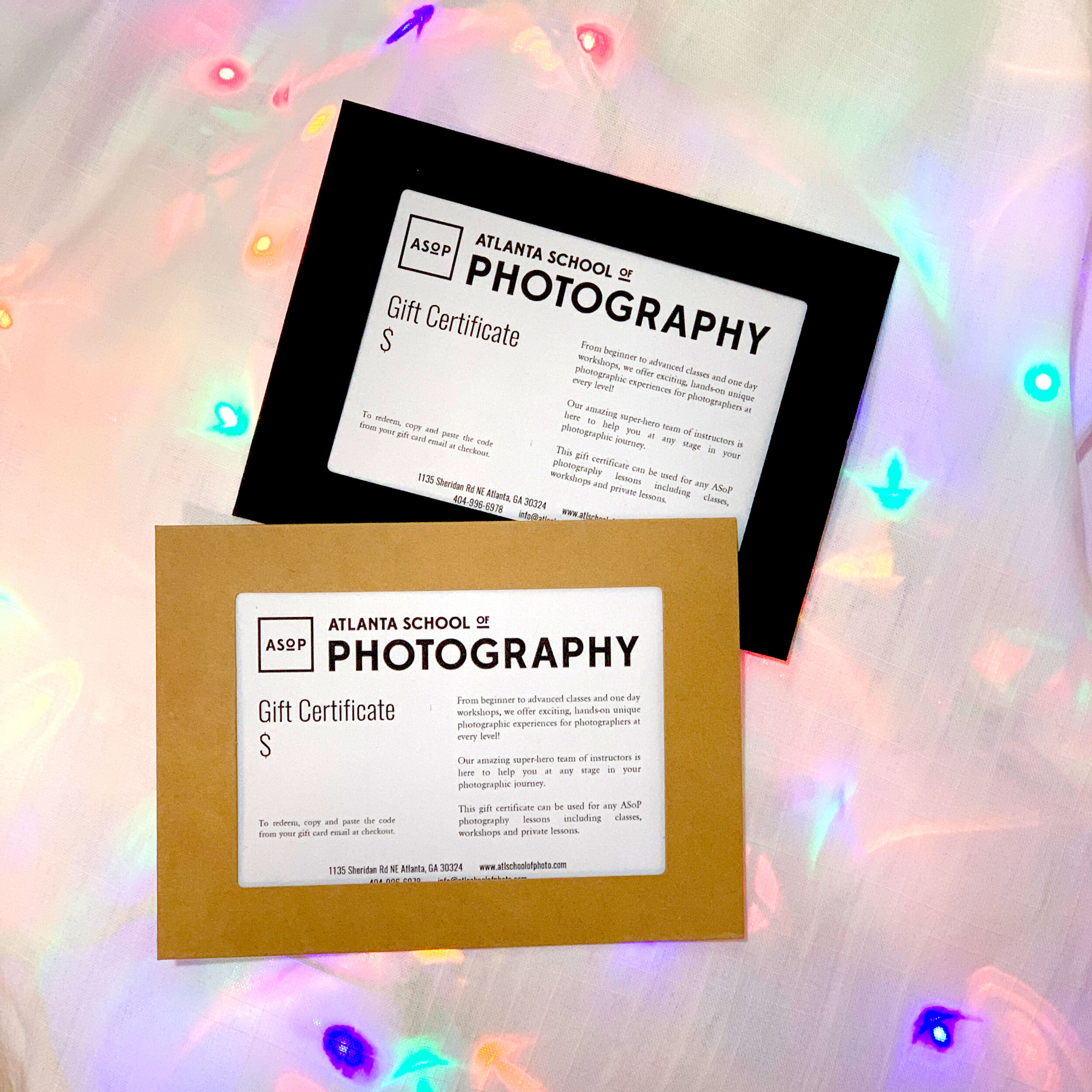 photography gift card