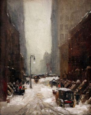 snow in new york. 1902