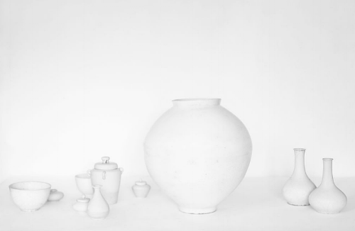 korean joseon dynasty (1392-1910)white porcelain ceramics. photographed by bohnchang koo. 2009
