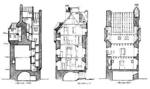 carney castle section drawings