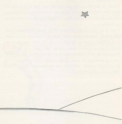 this is,to me, the loveliest and the saddest landscape in the world. it is the same as that on the preceding page, but i have drawn it again to impress it on your memory. it is here that the little prince appeared on earth, and disappeared.    de saint-exupéry, a. (1943) le petite prince