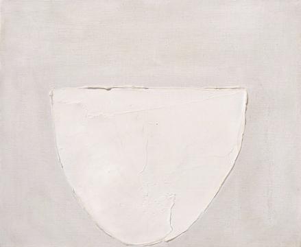 bowl, white on grey. 1962