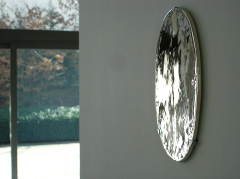 wall mirror sculpture. porcelain. platinum. 2006