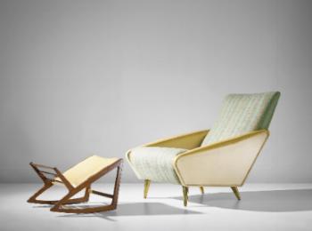 distex armchair and footstool. 1954