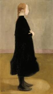 school girl in black. 1908