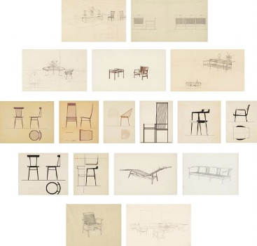 seventeen design studies on paper. 1960