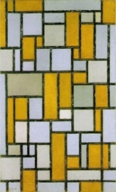 composition with gray and light brown. 1918
