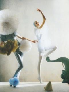 Olga Sherer in 'A Magic World'. Vogue Italia.January 2008
