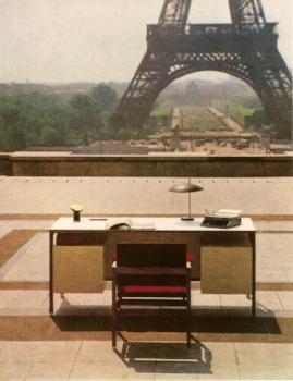 1960s. Writing Desk and Chair by Antoine Philippon and Jacqueline Lecoq