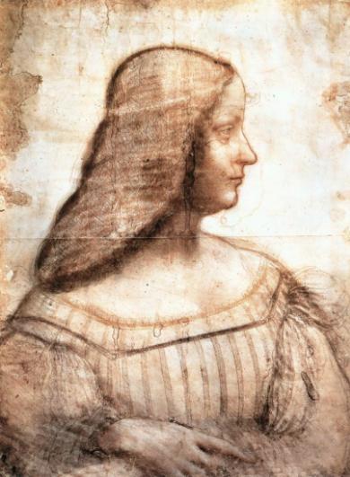 Portrait d'isabelle d'este, 1499-1500