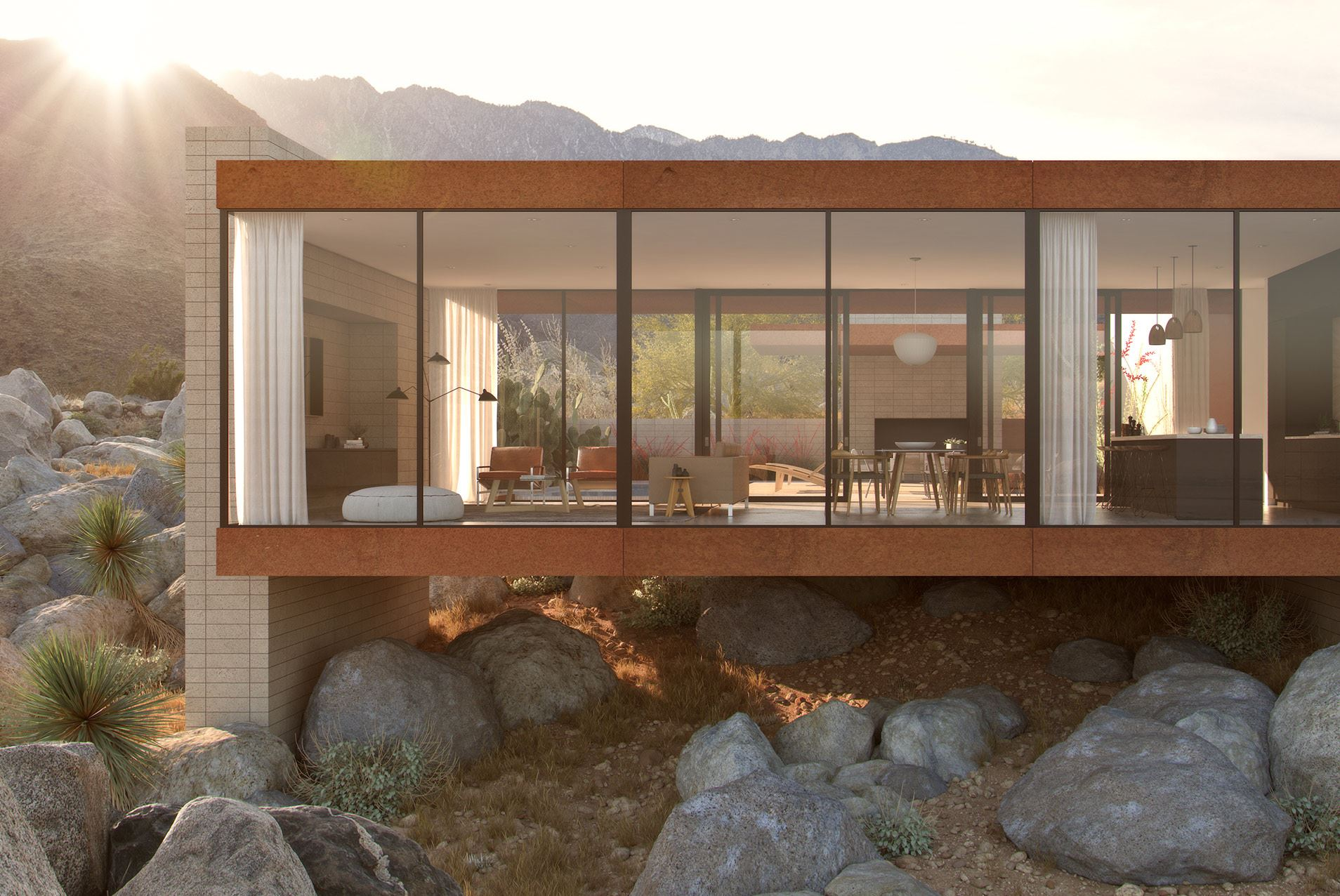 Desert Palisades Guardhouse, Palm Springs, California, by AR&D Architects, completed 2016