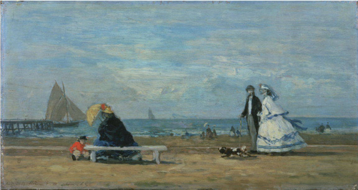 Beach at Trouville, 1863