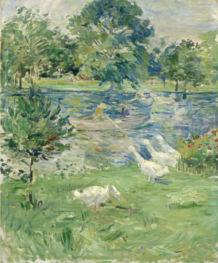 Girl in a Boat with Geese, ca. 1889