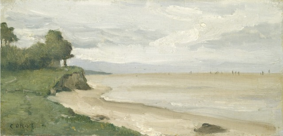 Beach near Etretat, ca. 1872