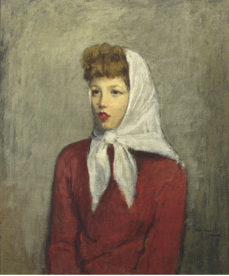 Woman with Scarf, ca. 1942