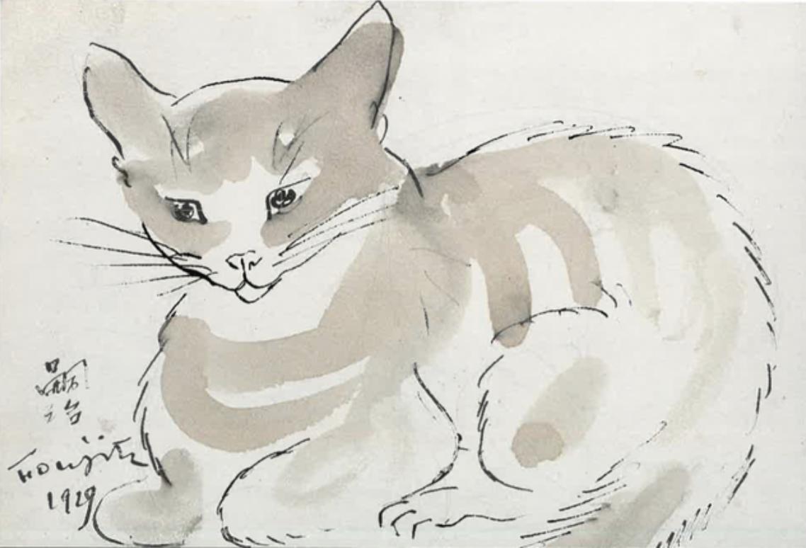 Léonard Tsugouharu Foujita, Chat 1929