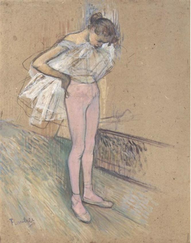 Danseuse ajustant son maillt, 1890
