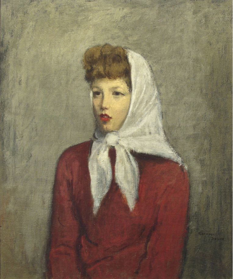Woman with Scarf, 1942