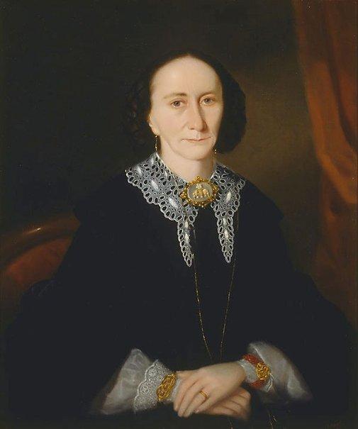 Portrait of a woman, Elizabeth Collins, 1861