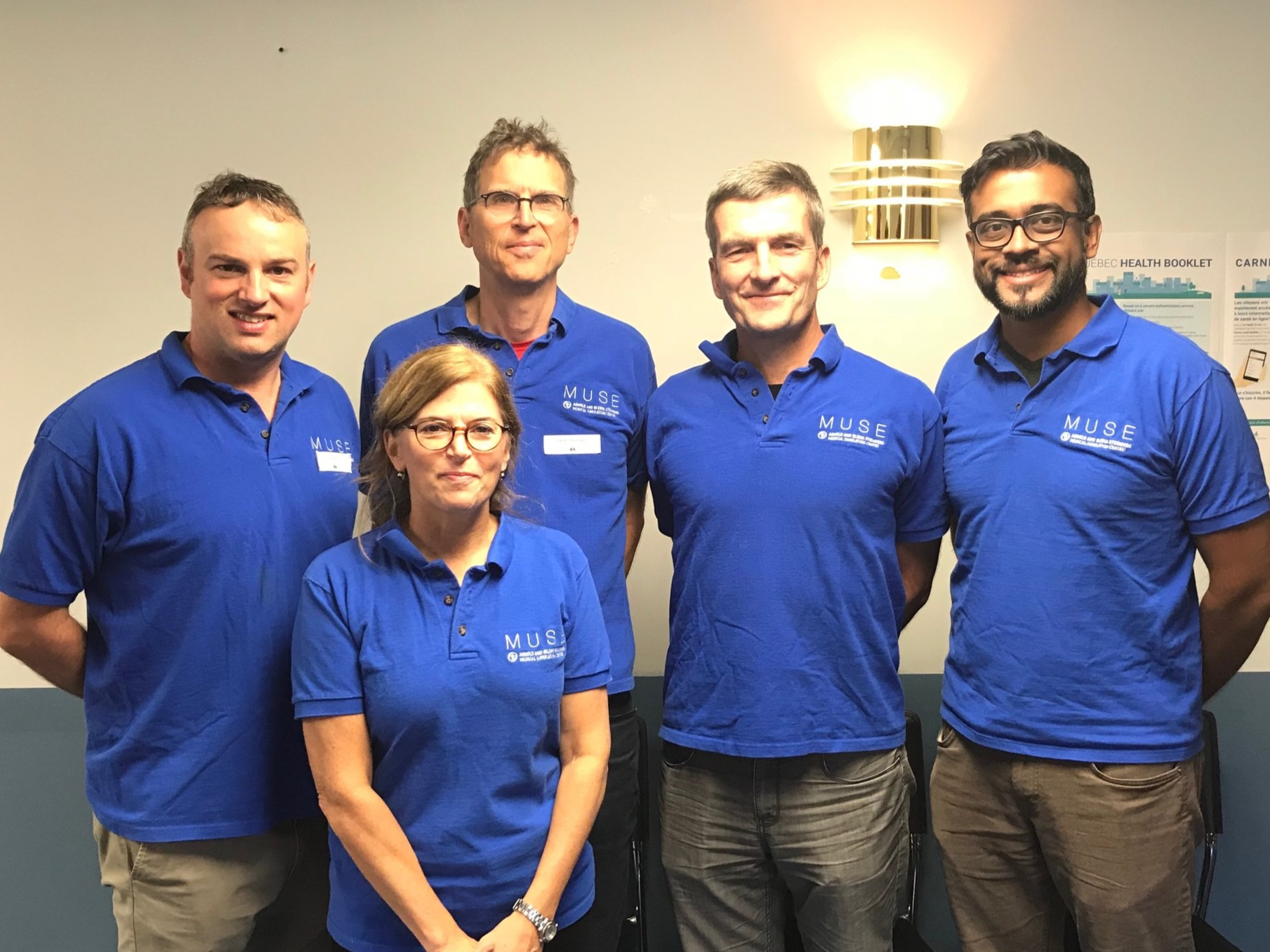 L-R: Nick Burton (Course Manager), Sharon Oleskevich (Executive Administrator), Peter Steinmetz (Co-director), John Lewis (Co-director), Antony Roberts (Lead Instructor)
