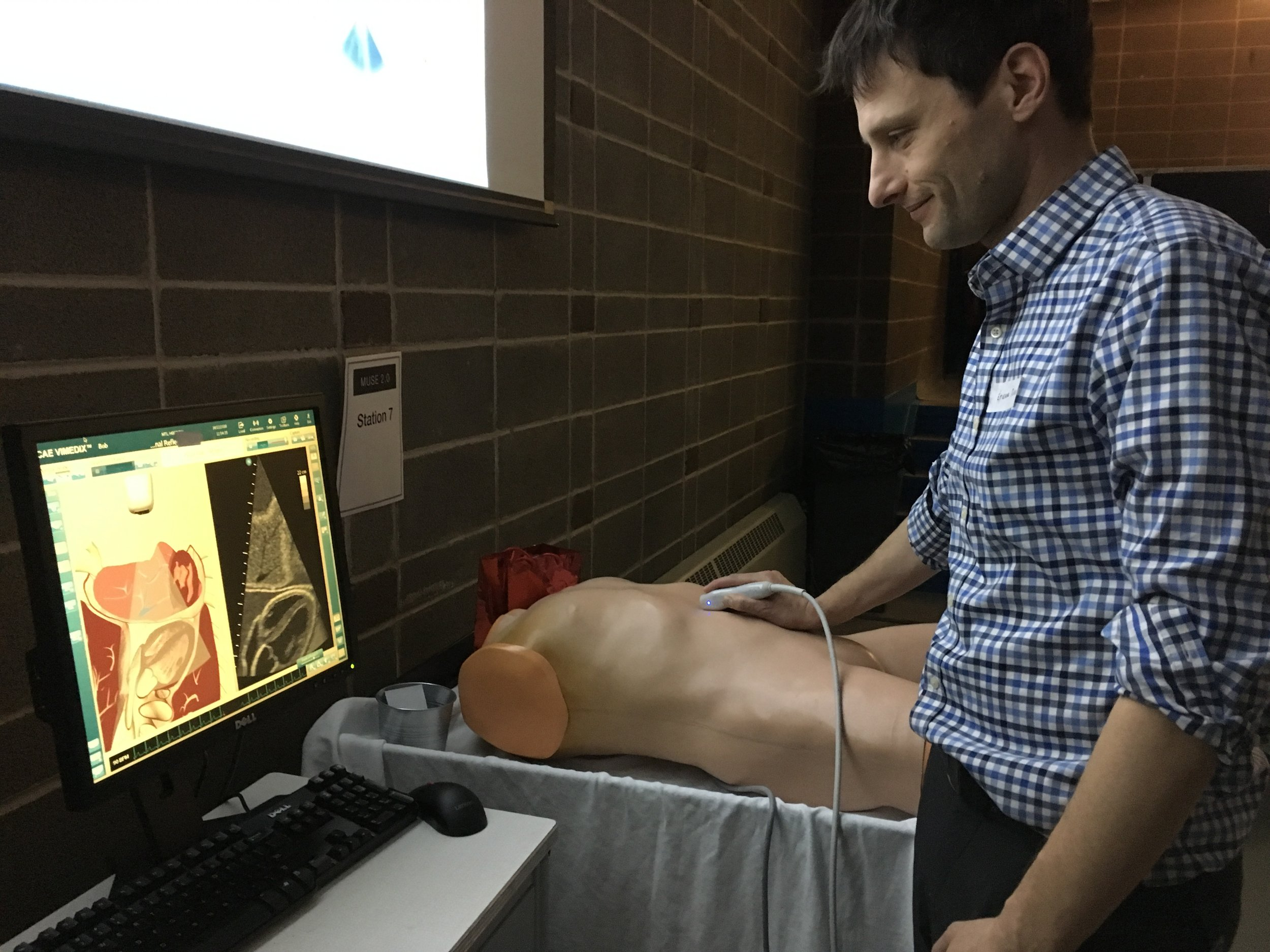 Cardiac/Abdominal simulator with programmed pathology