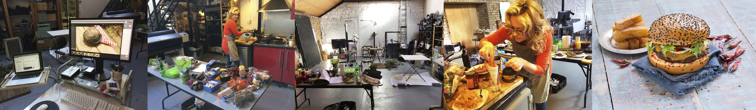 Working in the studio.