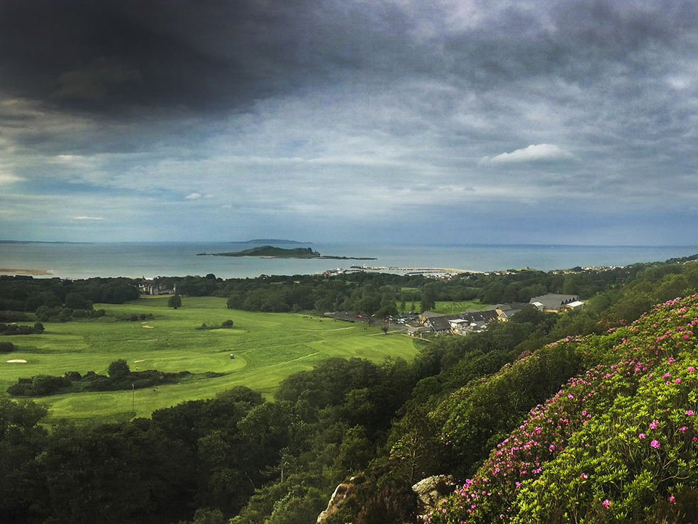 When you make it to the summit you get great views of Howth, above, and Dublin and its Bay.