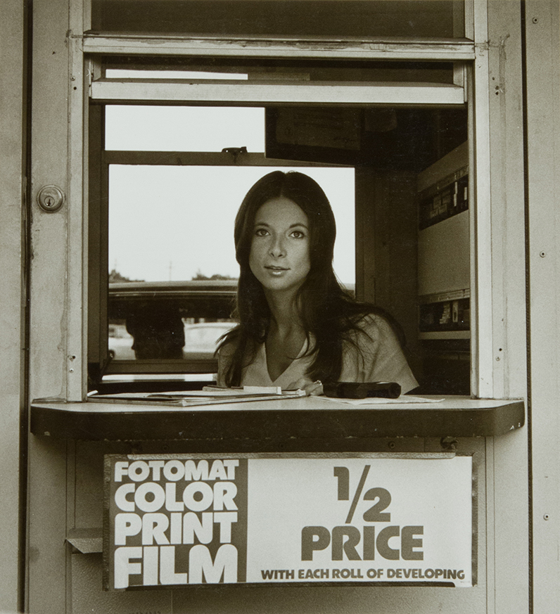Fotomat Girl, Louisville Kentucky, 1974  Raymond Smith