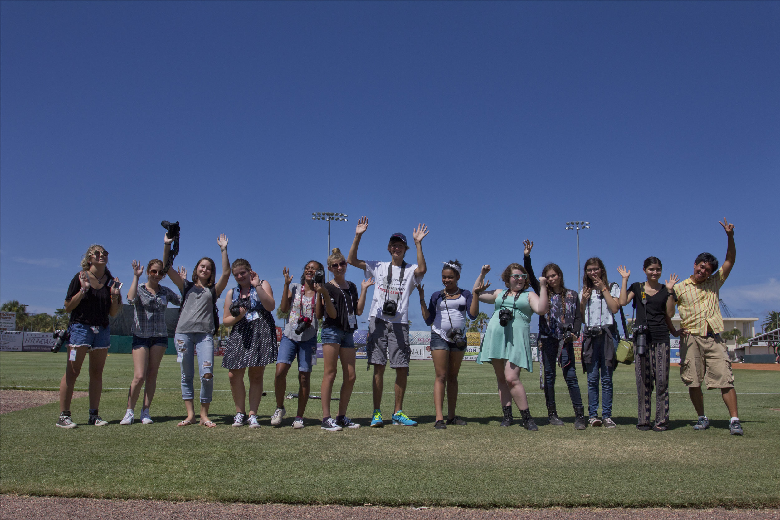 Academy students on a field trip at the Jackie Robinson Ballpark in Daytona Beach, FL. Special thanks to photographer Aldrin Capulong and Director of Broadcasting, Luke Maura.