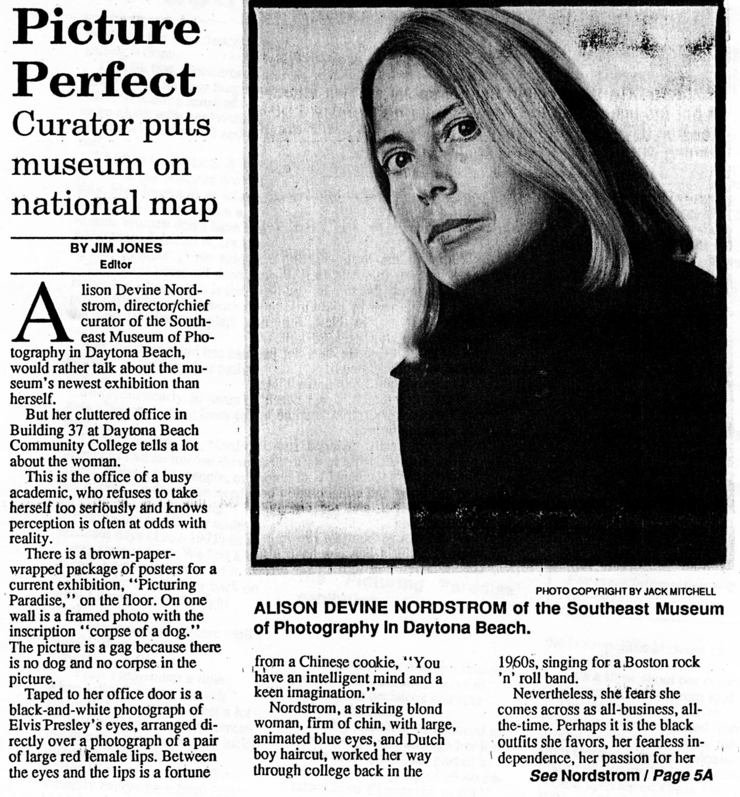 Nordstrom interview, Daytona Beach News Journal, 1992