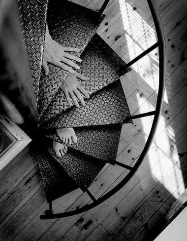 Nude Descending a Staircase, Rockport, Maine, 2005  © Arno Rafael Minkkinen