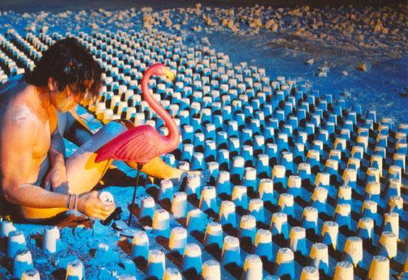 En La Arena Sabrosa , 2004 (performance photo)  Carlos Betancourt  C-print, 42 x 54