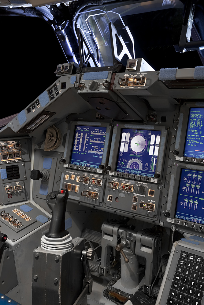 Commander's Console, Space Shuttle Endeavour, Orbiter Processing Facility 2, Kennedy Space Center, FL, 2012