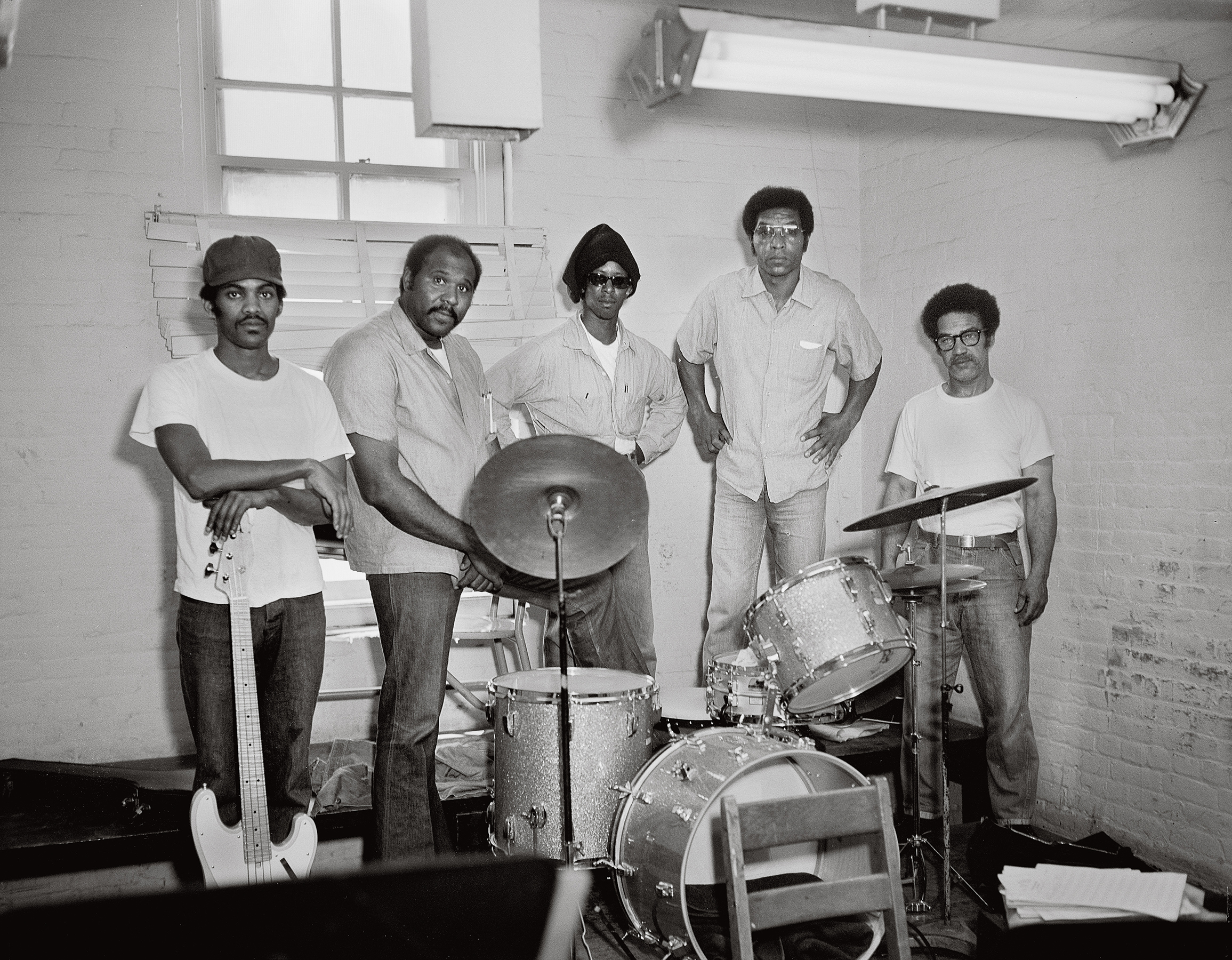 Photographer unknown, Prison Rock Band, San Quentin State Prison, June 26, 1975, Courtesy Nigel Poor