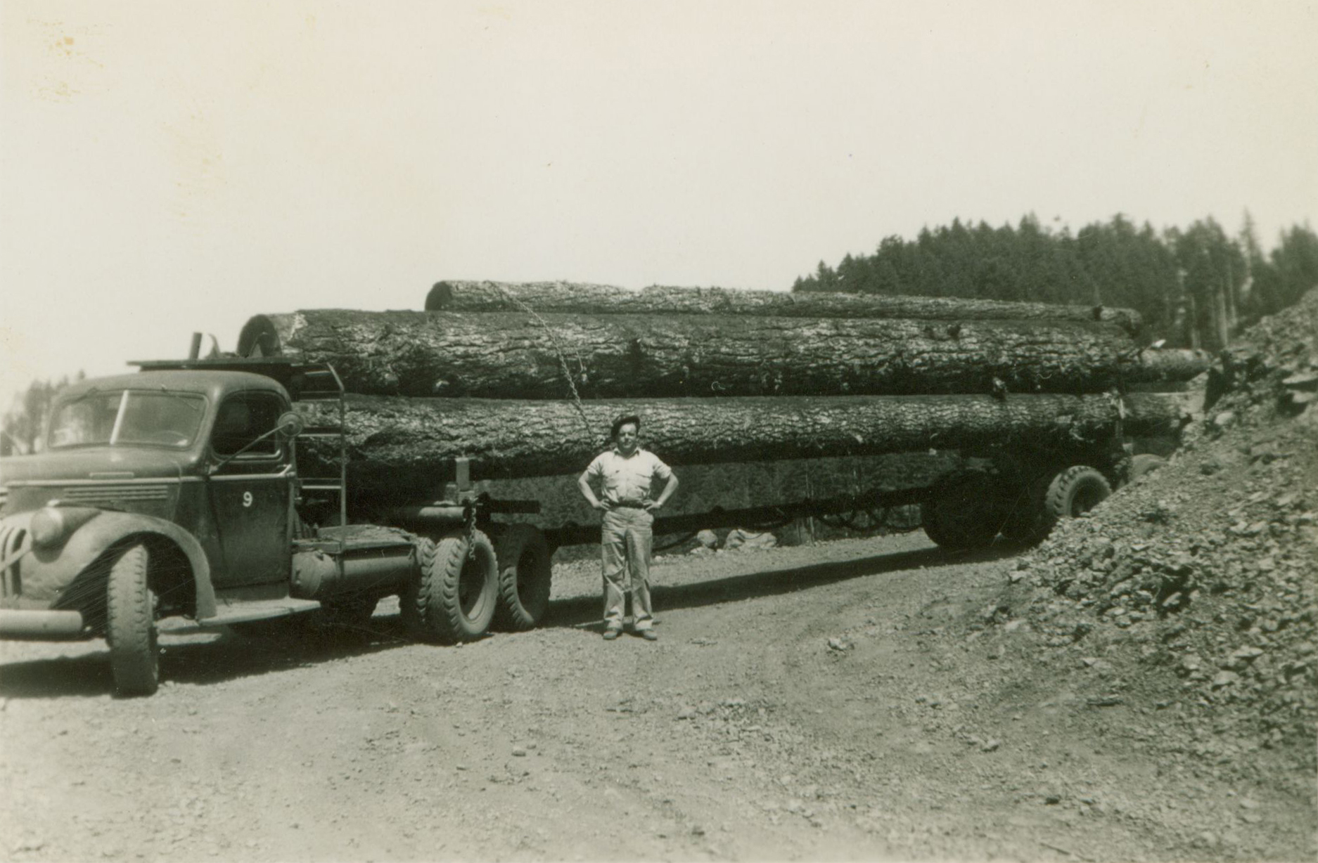D. C. Perkins started trucking in the 1930's.