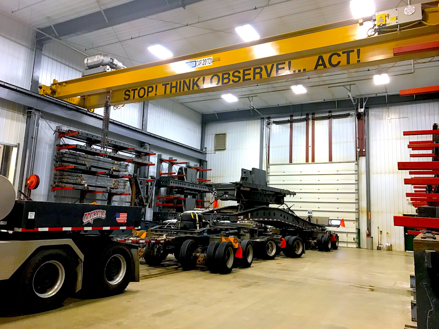 Equipment Assembly Bay at Northfield Operation Center in Northfield, MN (HQ)
