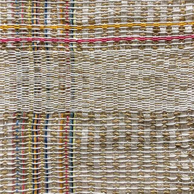...Found this weaving I did a few years ago @fitnyc . 2nd image was my inspiration for the pattern. I think the twine would make it great to use for a picnic or beach blanket. .. . .. . #weaving #rigidheddleloom #weft #warp #pattern #mystic #colorful #earthy #texture #fiber #weaving #twine #loom #fitnyc #nyc #picnicblanket #beachblanket