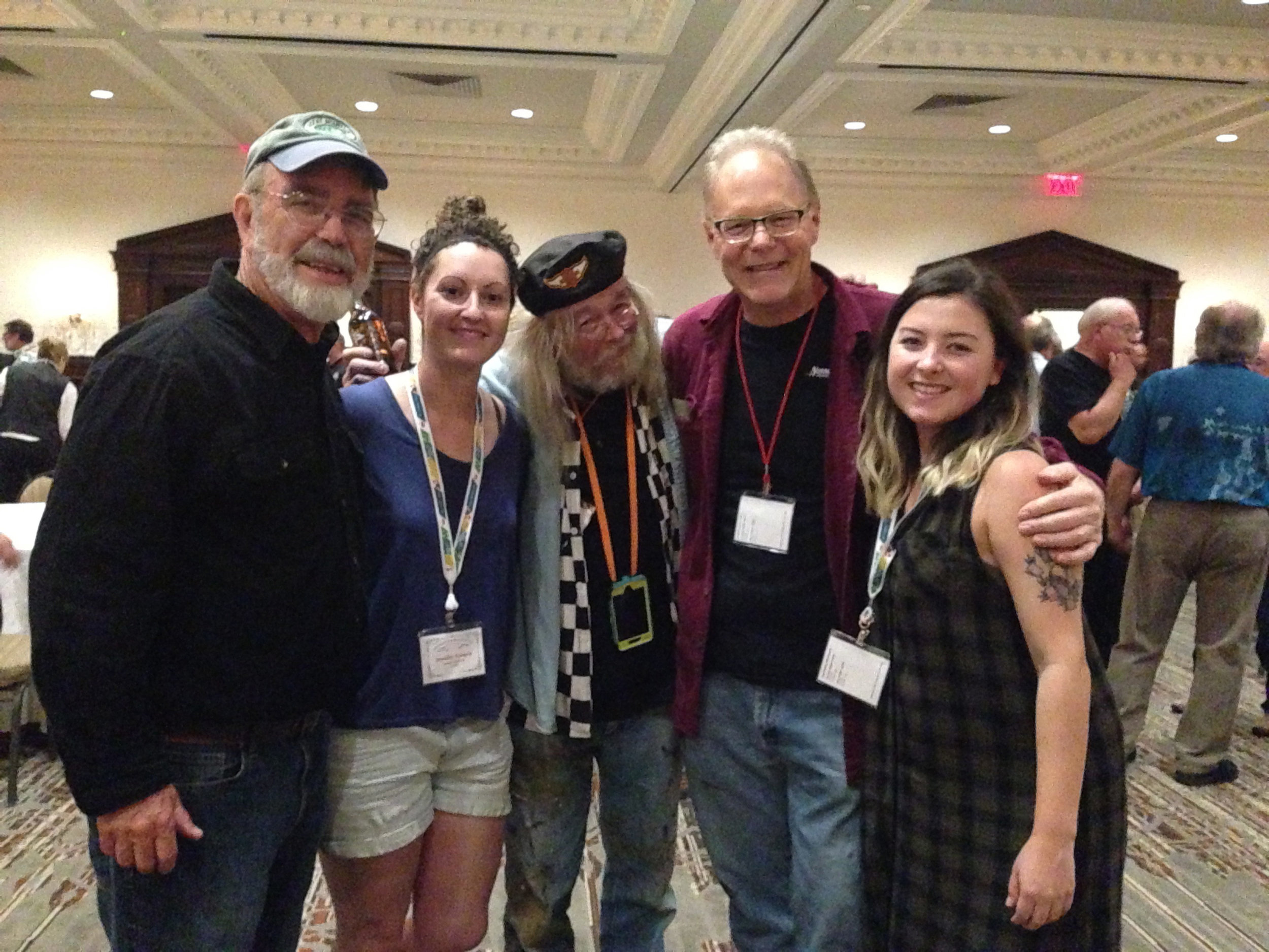 Alan Johnson, Myself, Alton Gillespie, Jeff Williams and Joanna Dawson
