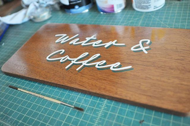 Finished set of wayfinding signs for @filistix.dt . These were done on mahogany ply with radiused corners, edge banded with veneer and finished with a hand-wiped varnish. Design courtesy of the talented @landfaculty . . . . . . . . . . . . . #alwayshandpaint #signpainting #signpainter #edmonton #calgary #alberta #yeg #yyc #yegdesign #yycdesign #interiordesign #letters #handpaintedletters #goodtype #thedailytype
