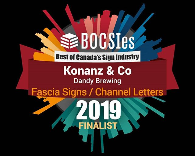 Thanks @signmediacanada_mag for showcasing some hand painted signs in their awards this year! Honoured to be a finalist, and reppin' Western Canada eh!! 🇨🇦 Thank you @dandytastingroom  for trusting me with the painting and custom lettering design. 🙏