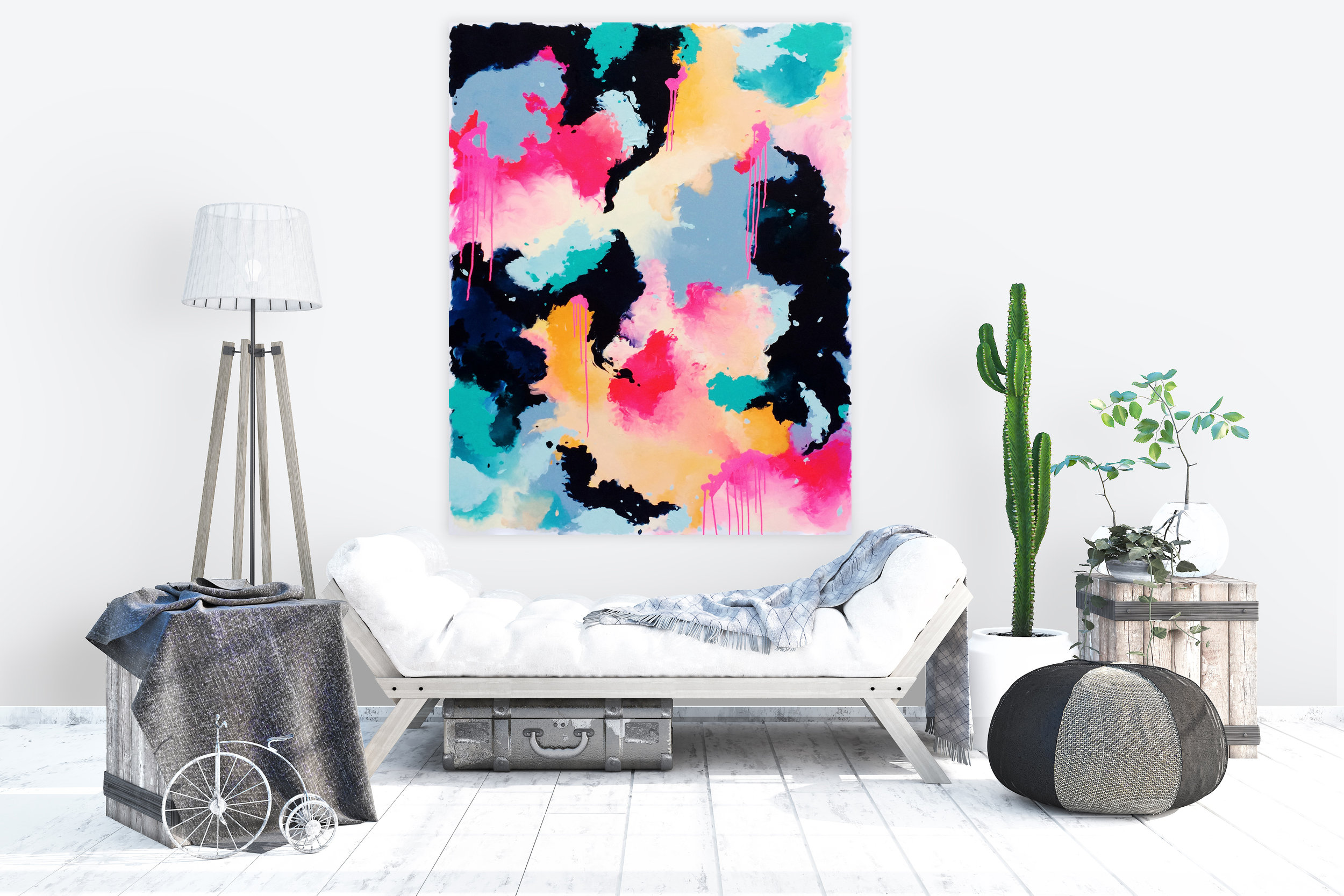 statement piece office art big canvas painting home living decor wall