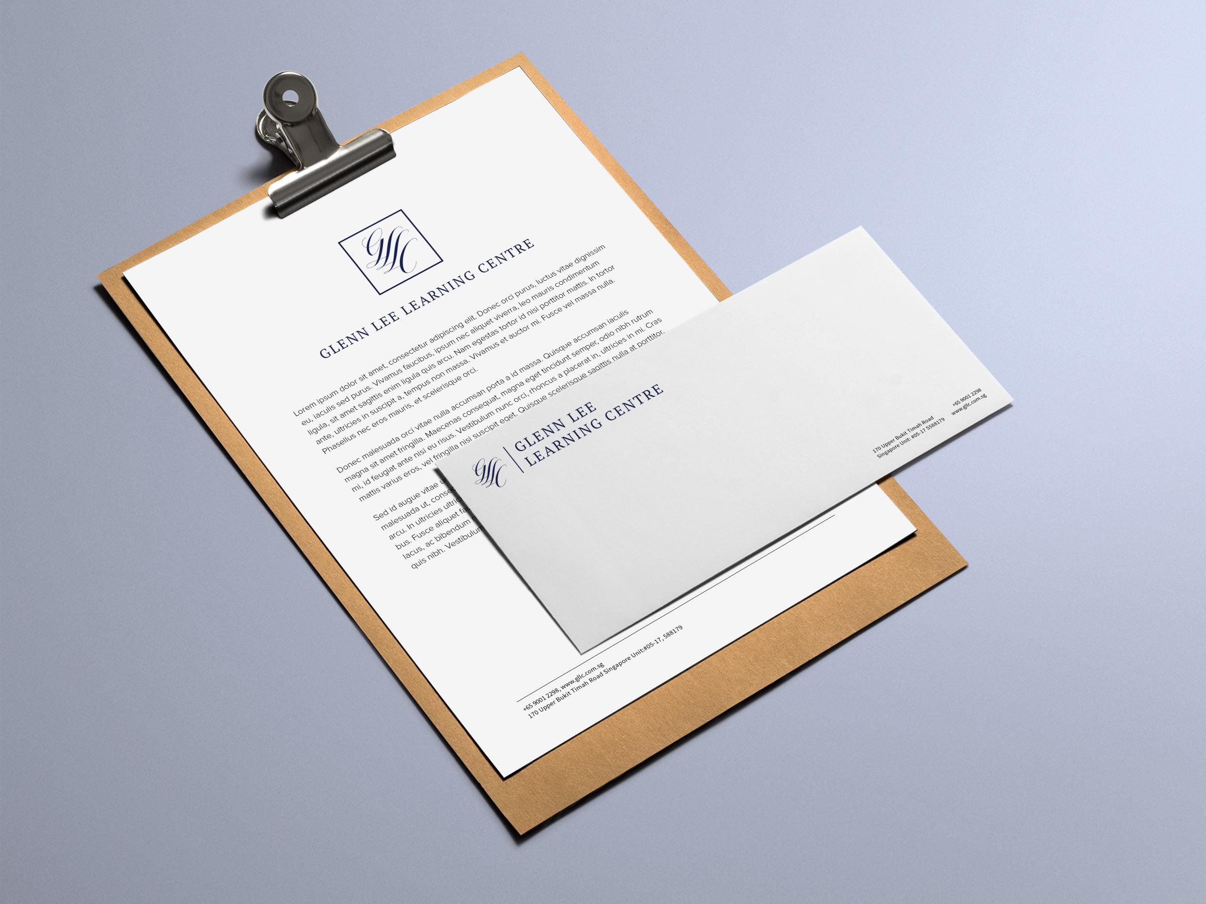 Glenn Lee Learning Centre Singapore Logo Design Branding Rebrand Document-+-Envelope.jpg