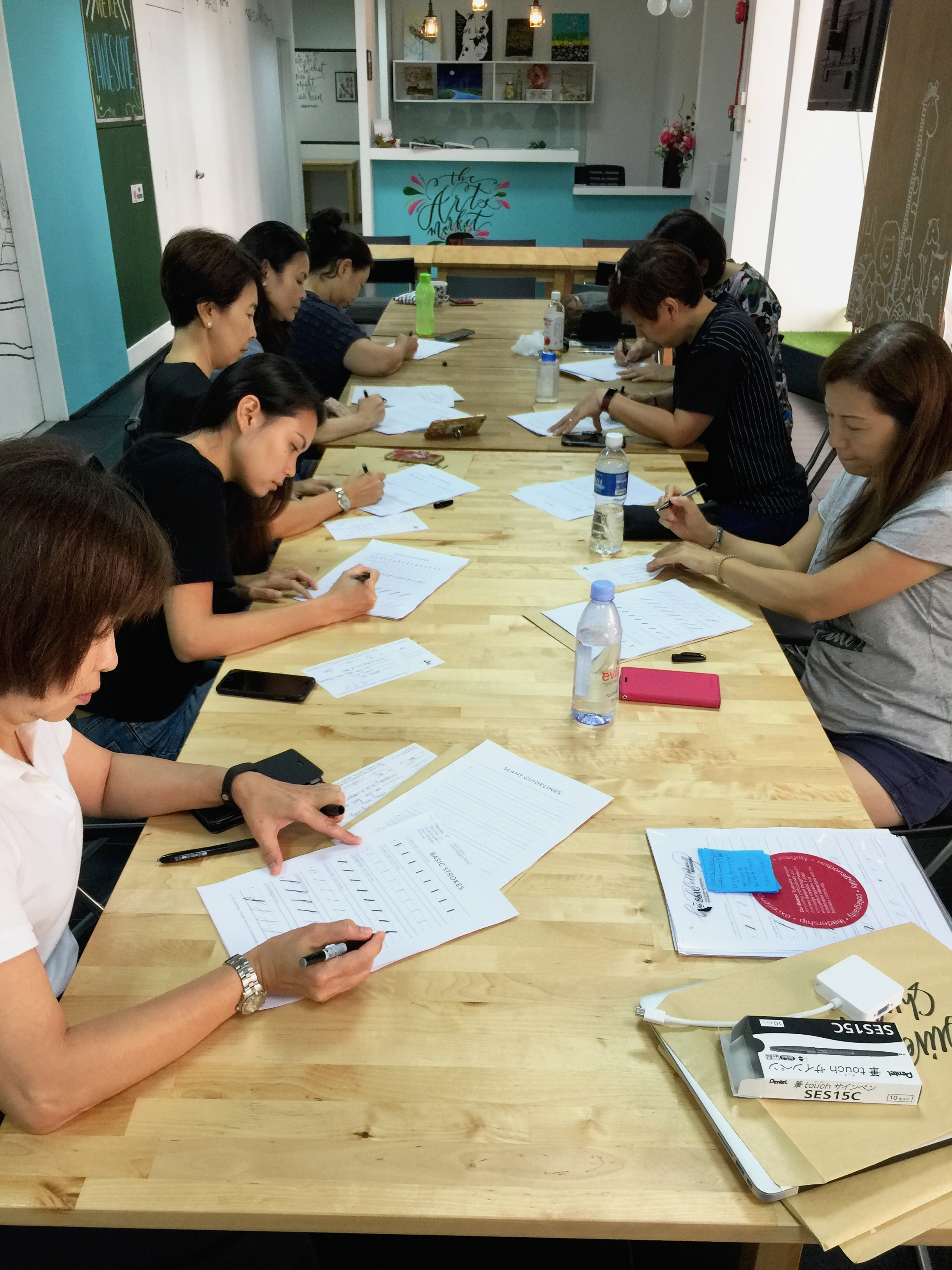 The Arts Market x Fei Yue Community Services Calligraphy Workshop