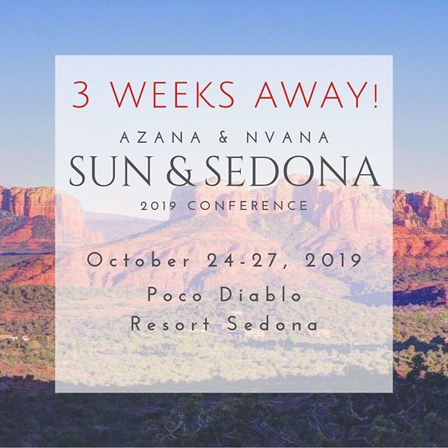 🏜 3 WEEKS AWAY! Join us at the AZANA & NVANA Sun & Sedona 2019 Conference! Register today at www.azcrna.com! #AZANA #CRNA