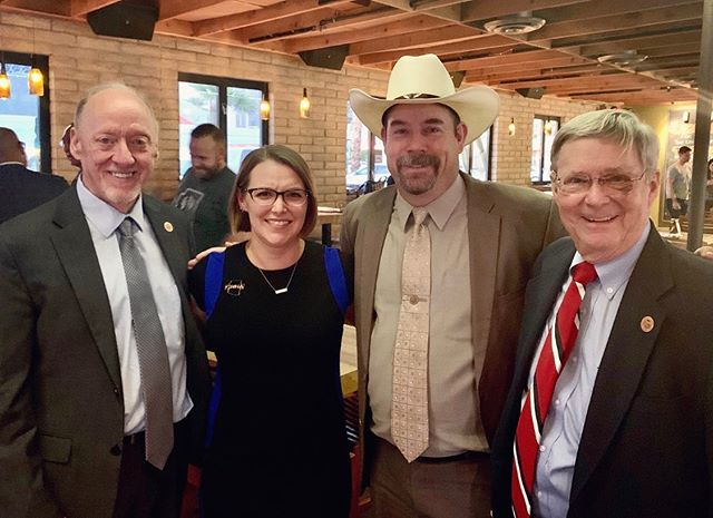 AZANA Secretary Blaire Zamboni attended a PAC fundraiser for State Senators Rick Gray, David Gowan, and Vince Leach. We're always grateful to our local legislators for taking time to talk about nurse anesthesia in AZ! #AZANA #CRNA