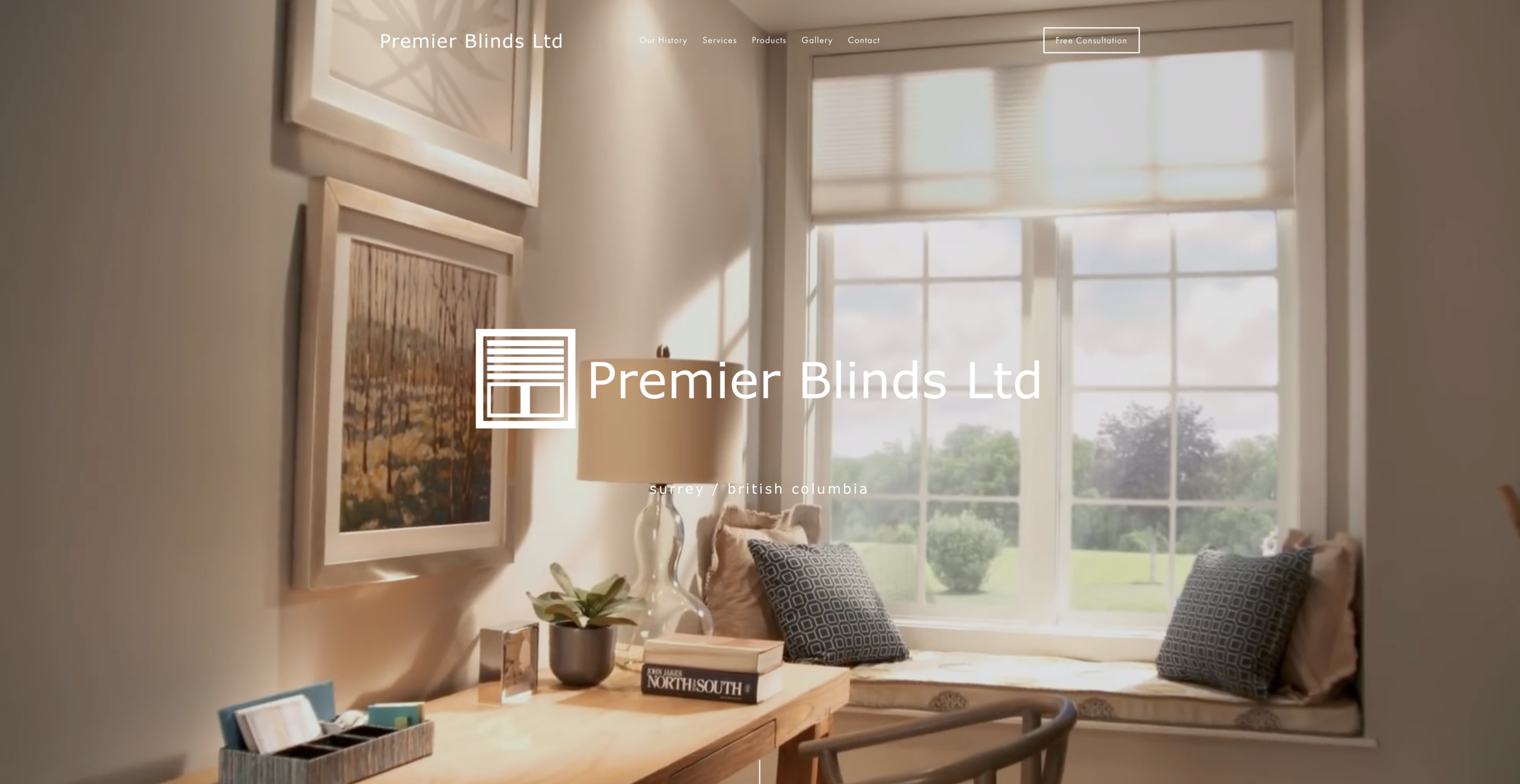 Premier Blinds Ltd - Donna Halme Designs was approached by Steve Sayers, owner of Premier Blinds Ltd who required a new website designed for their new company. Steve wanted a website that was more than just a presence but not too many pages. I designed this website so that it was easy to navigate and be informative. A video banner that peaks interest to visitors to their site was added. This banner also showcases the window treatment automation that they are known for. I suggested that they set up their own Instagram account and start taking photos of their completed projects and post. That way, Premier Blinds Ltd would have the latest images of client projects. In addition to the design of this website, I secured and registered a domain name, set up an email account for Steve, created a company logo, and Facebook cover image.