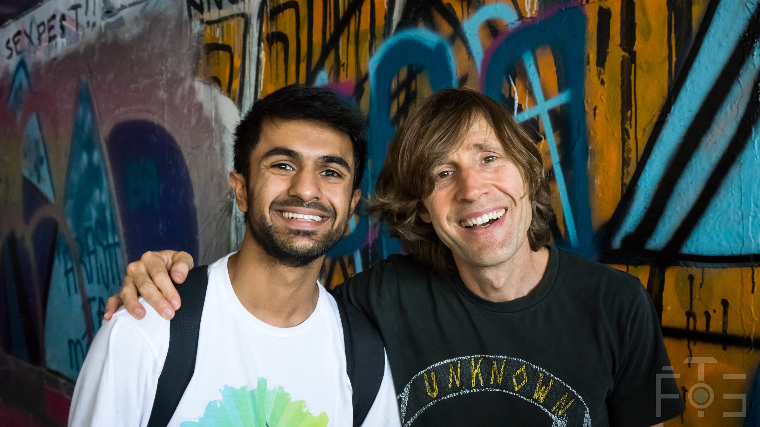 Myself and Rodney Mullen. 1/125 secs, f7.1, ISO 2000.