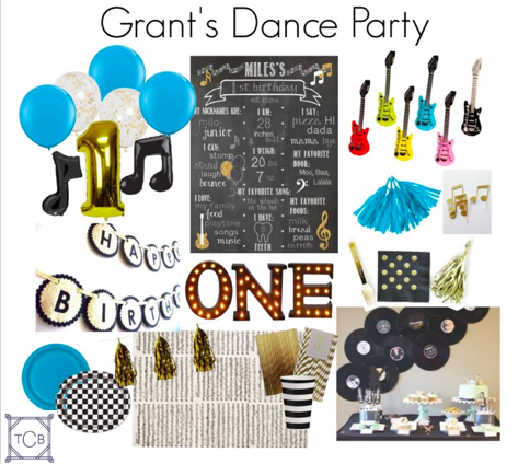 Here's the board I created for Grant's Dance Party!